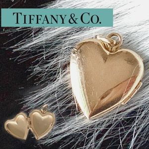 Tiffany & Co. vintage heart locket 14k gold BEAUTY